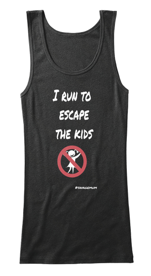 Escape the kids (black vest top)
