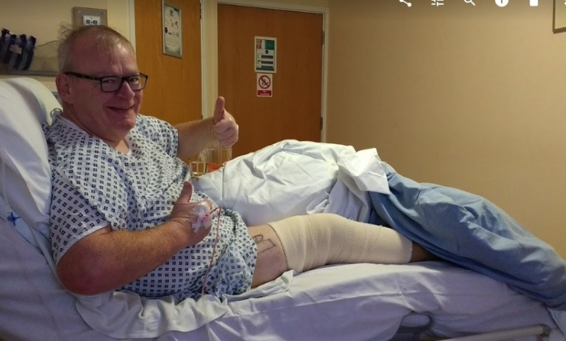 Peter in hospital